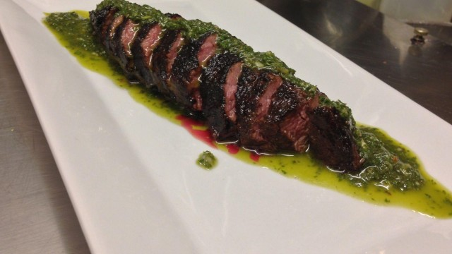 House Rubbed Beef Tender Steak with Argentinian Chimichurri sauce
